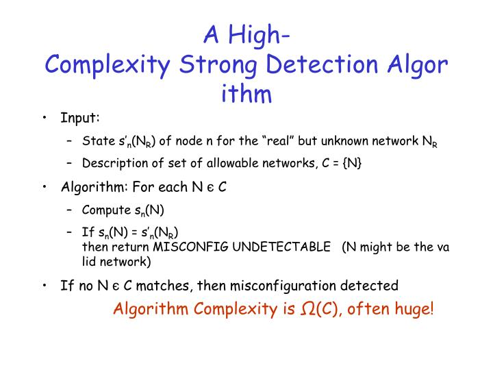 A High-Complexity Strong Detection Algorithm