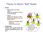 theory to detect bad nodes