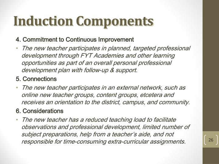 Induction Components