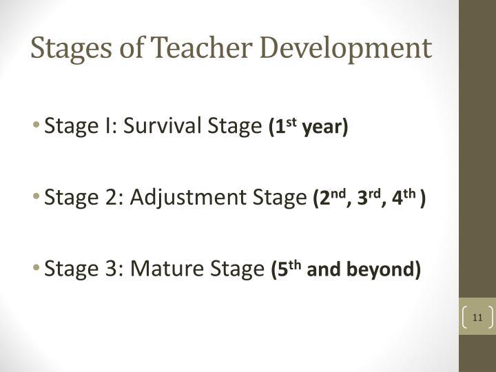 Stages of Teacher Development