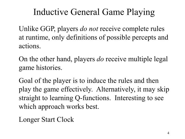 Inductive General Game Playing
