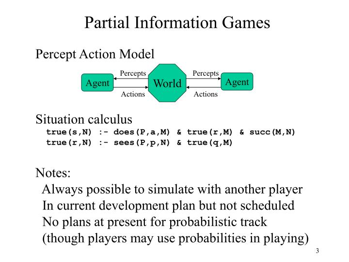 Partial Information Games