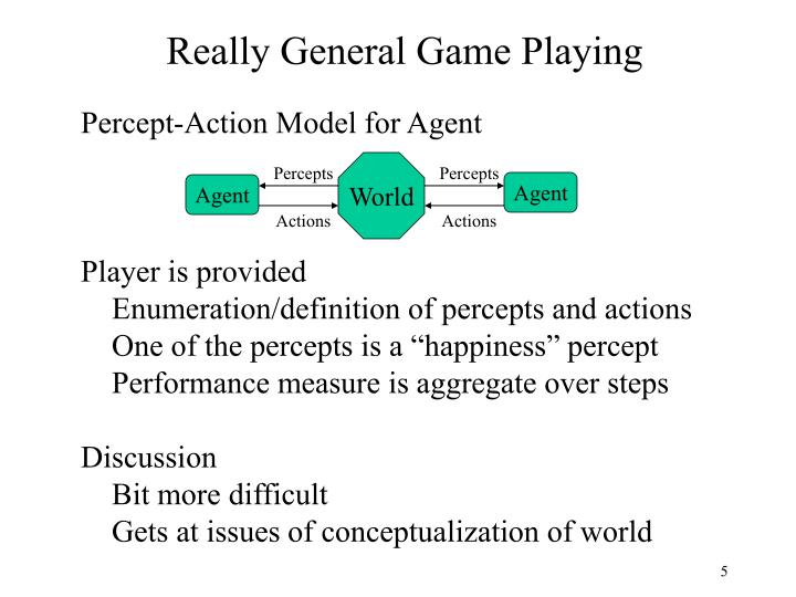Really General Game Playing