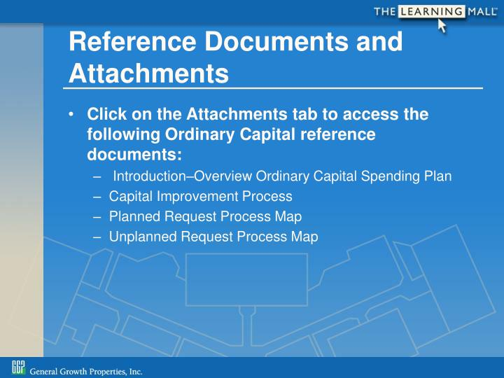 Reference Documents and Attachments