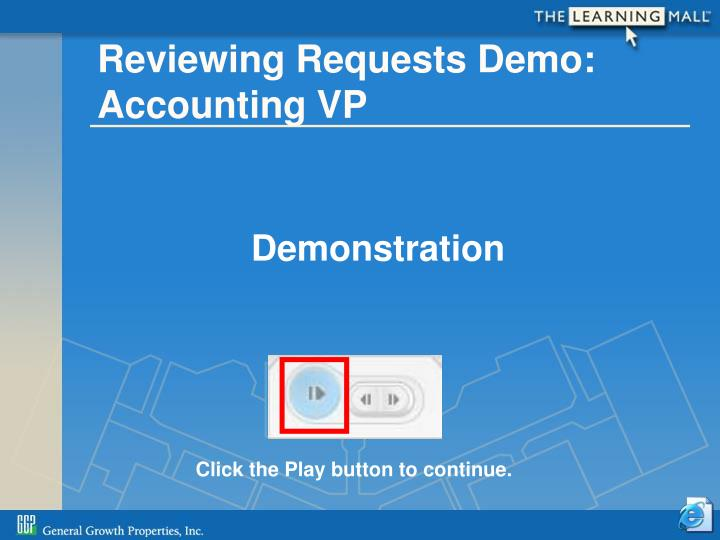 Reviewing Requests Demo: