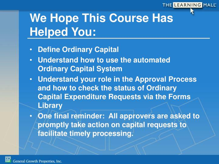 We Hope This Course Has Helped You: