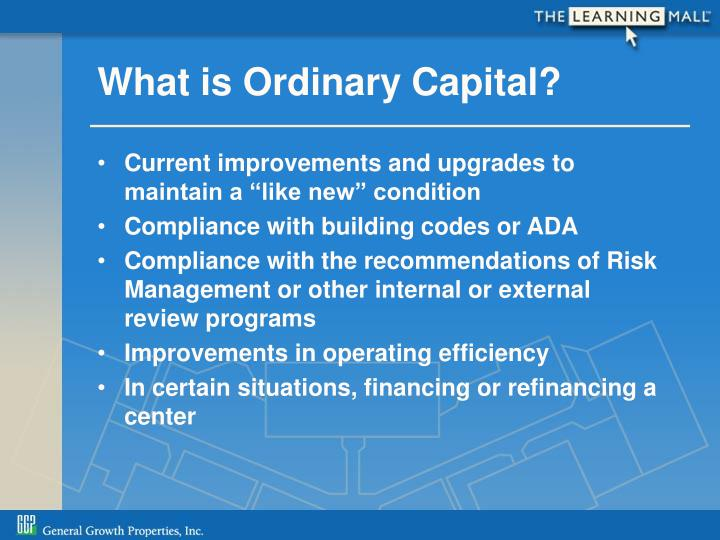 What is Ordinary Capital?