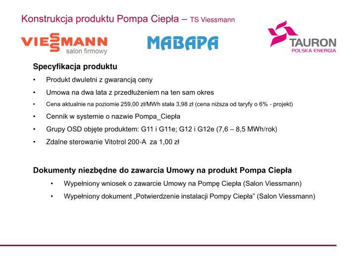 Konstrukcja produktu Pompa Ciepła –