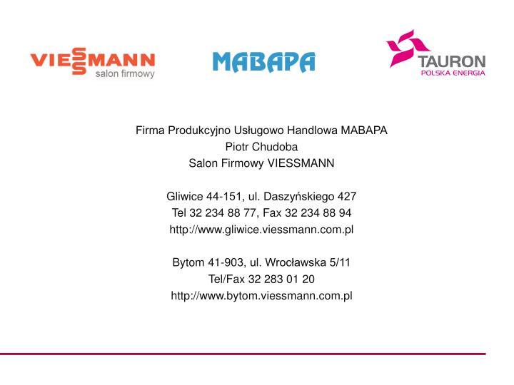 Firma Produkcyjno Usługowo Handlowa MABAPA
