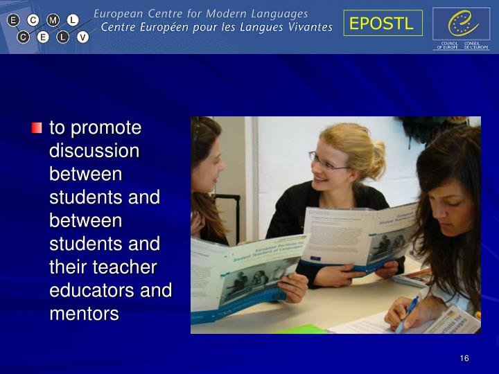 to promote discussion between students and between students and their teacher educators and mentors