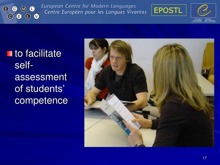 to facilitate self-assessment of students' competence
