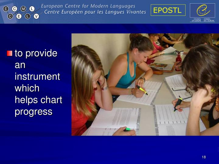 to provide an instrument which helps chart progress
