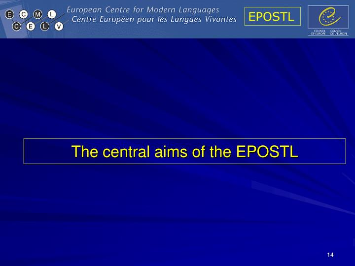 The central aims of the EPOSTL