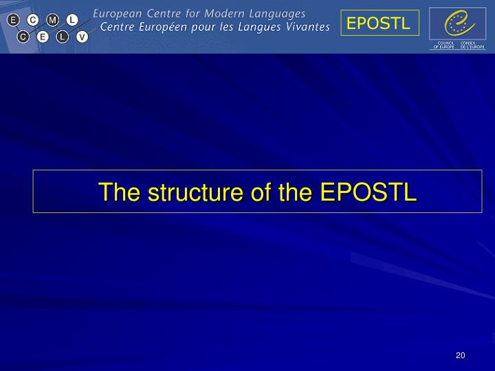 The structure of the EPOSTL