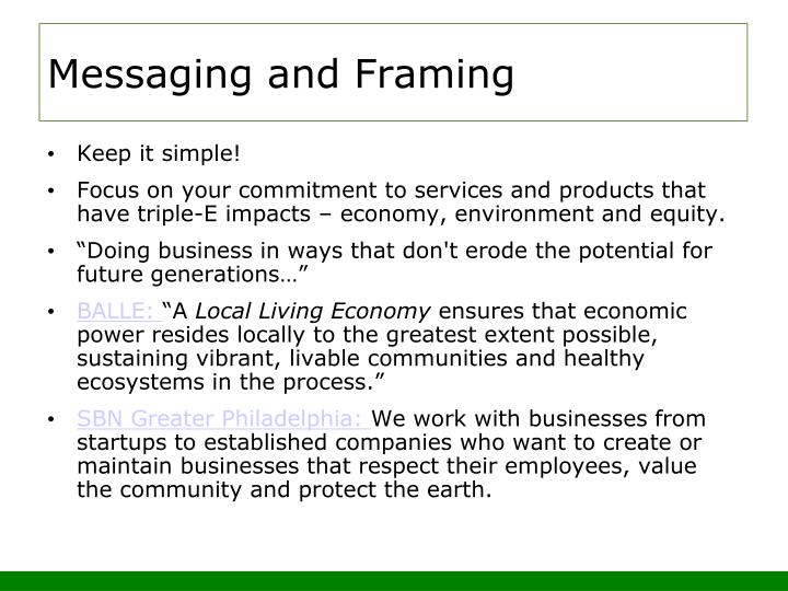 Messaging and Framing
