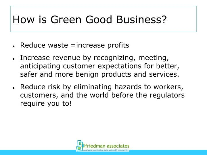 How is Green Good Business?