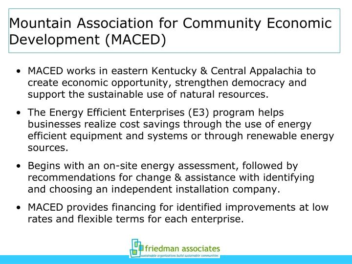 Mountain Association for Community Economic Development (MACED)