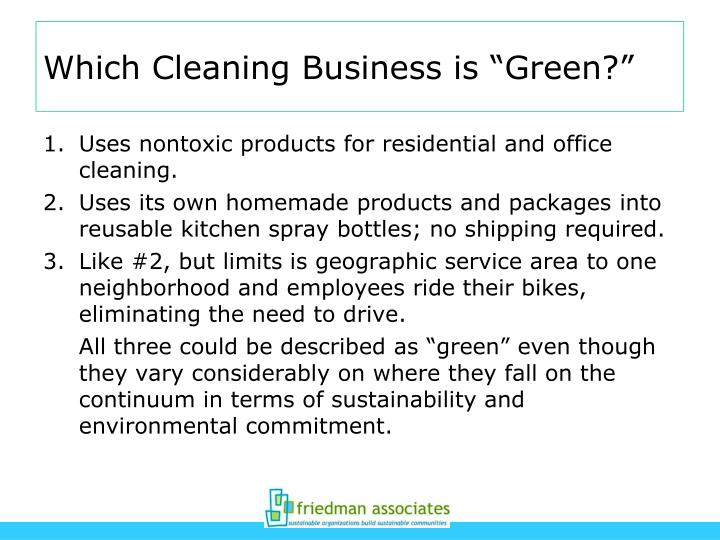"""Which Cleaning Business is """"Green?"""""""