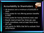 accountability to shareholders