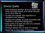 director quality