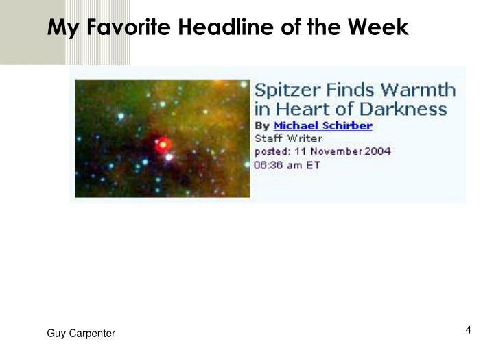 My Favorite Headline of the Week