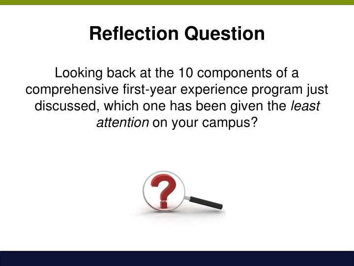 Reflection Question