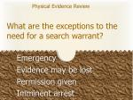 what are the exceptions to the need for a search warrant