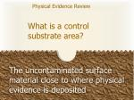 what is a control substrate area