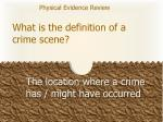 what is the definition of a crime scene