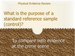what is the purpose of a standard reference sample control