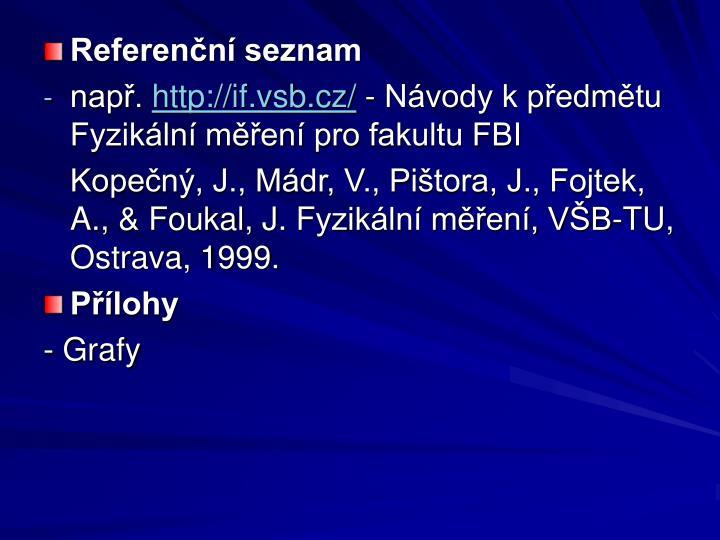 Referenční seznam