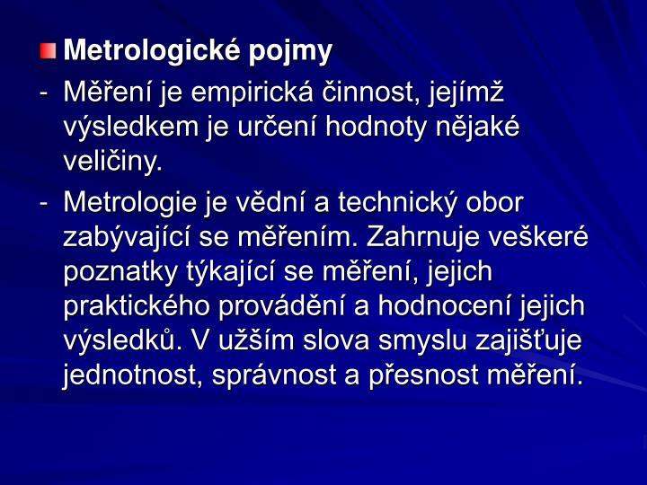 Metrologické pojmy