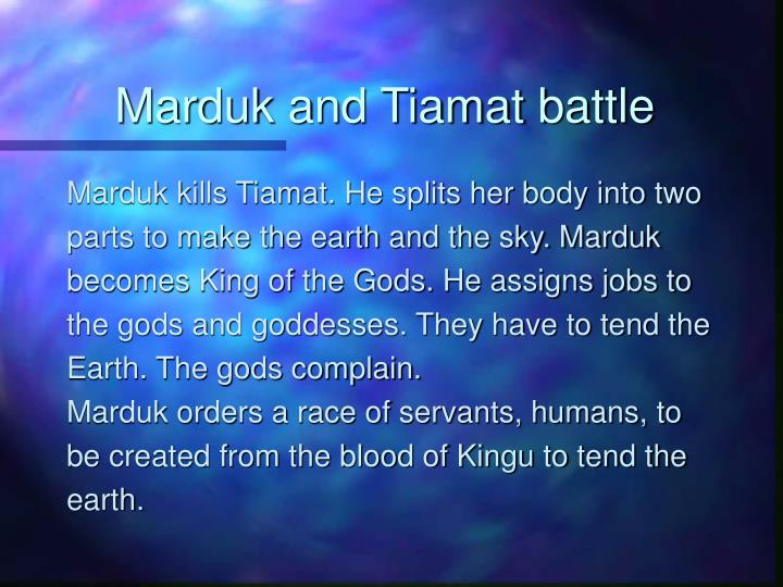Marduk and Tiamat battle