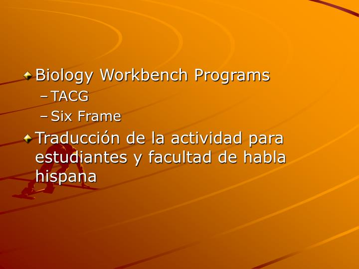 Biology Workbench Programs