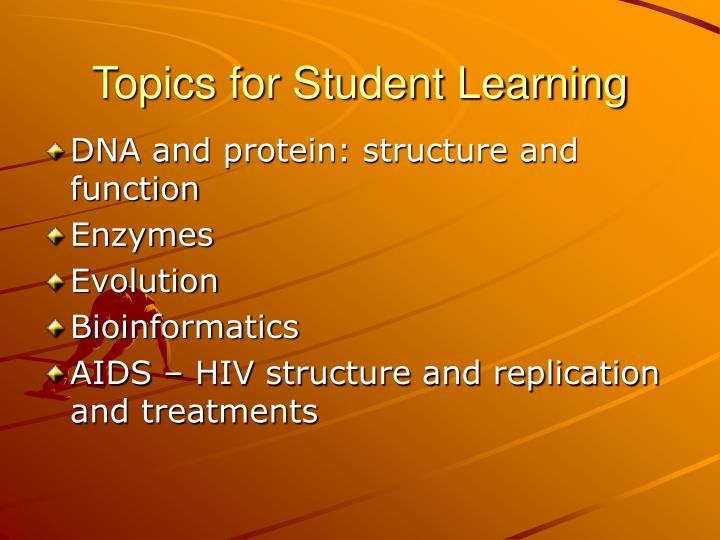 Topics for Student Learning