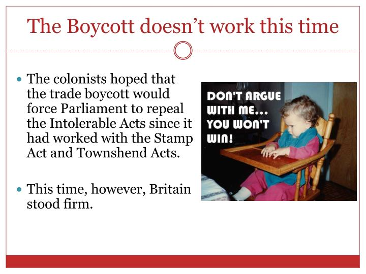 The Boycott doesn't work this time