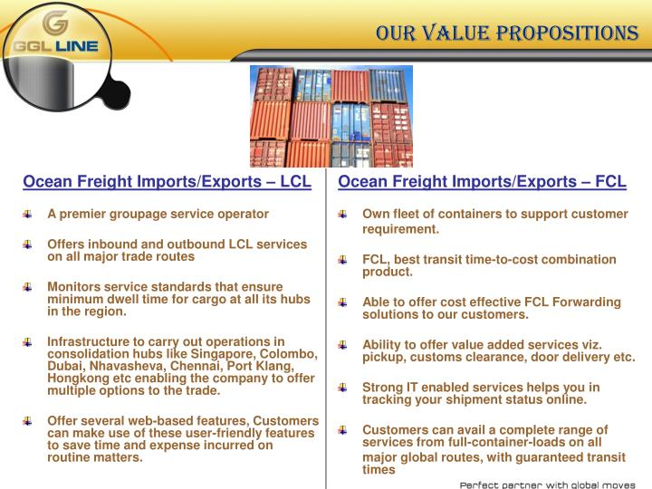 Ocean Freight Imports/Exports – LCL