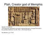 ptah creator god of memphis