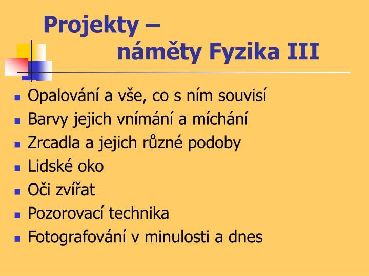 Projekty –