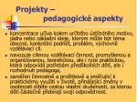 projekty pedagogick aspekty1