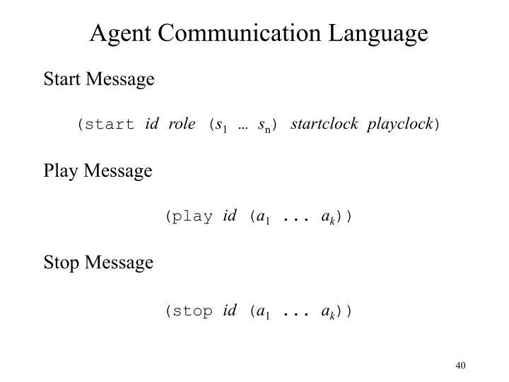 Agent Communication Language