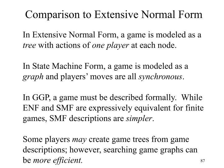 Comparison to Extensive Normal Form