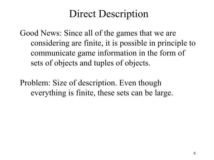 Direct Description