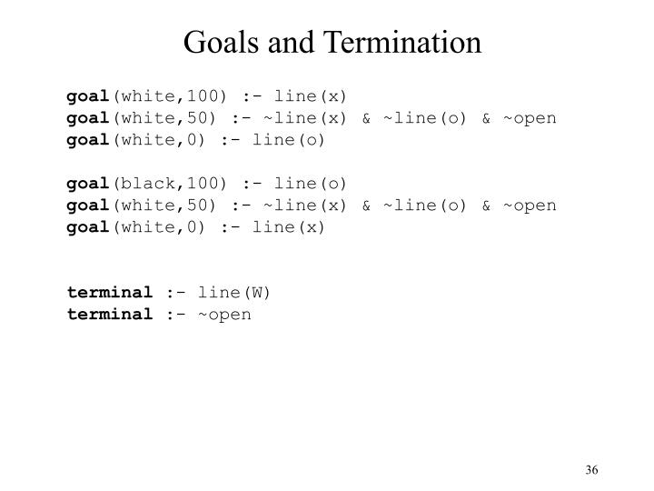 Goals and Termination