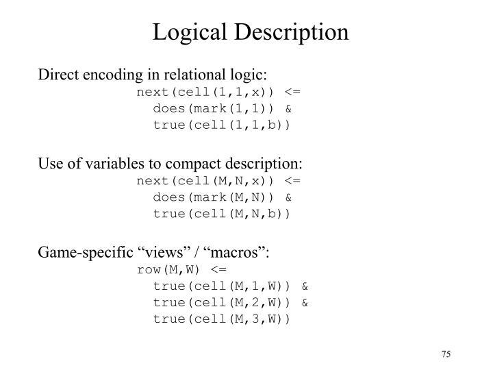 Logical Description