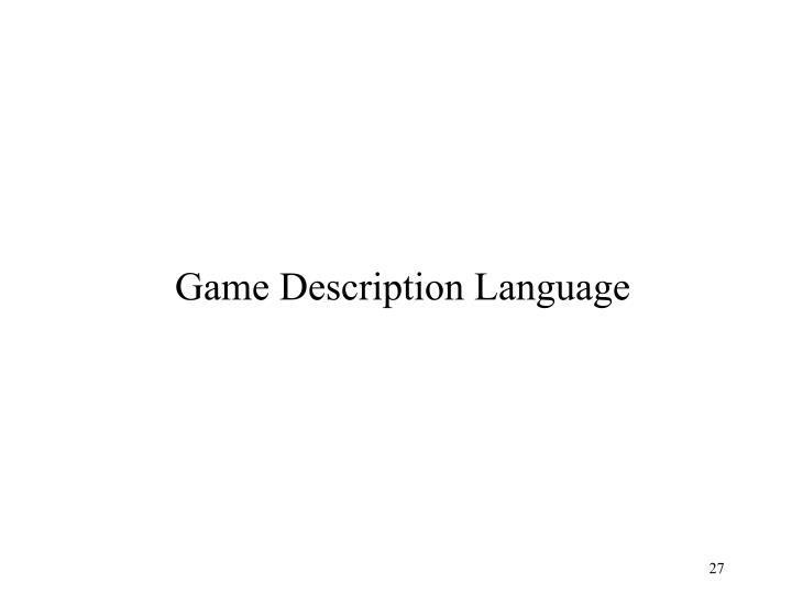 Game Description Language