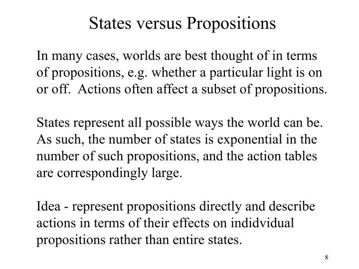 States versus Propositions