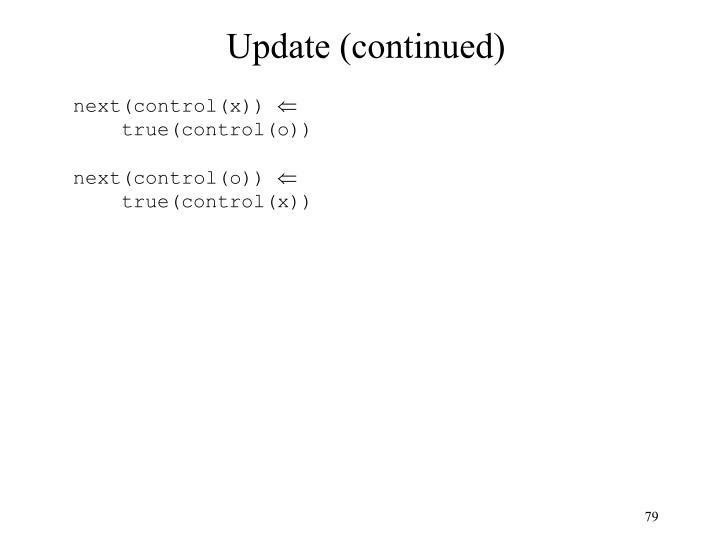 Update (continued)