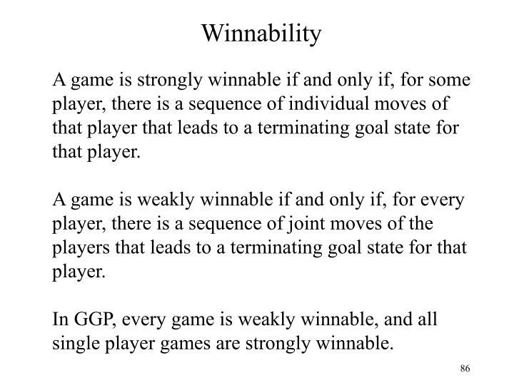 Winnability
