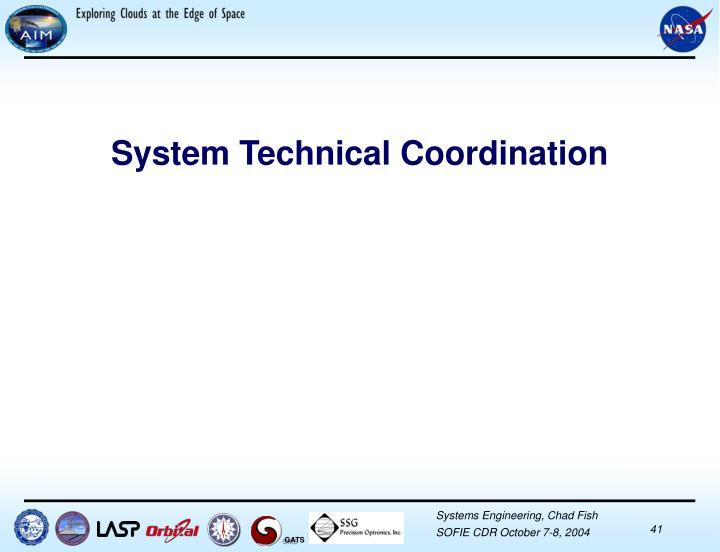 System Technical Coordination